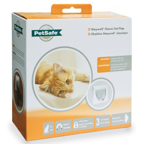 Staywell Classic Magnetic Cat Flap White