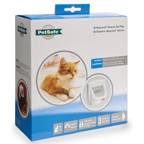 Staywell Deluxe Magnetic Cat Flap White