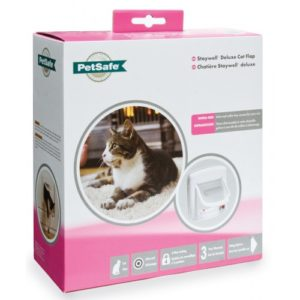 Staywell Infra Red 4-way Locking Deluxe Cat Flap White