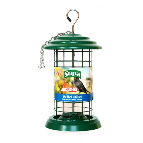 Supa Easy Fill Plastic Fortress Seed Feeder Green 20cm