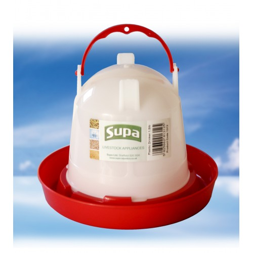 Supa Poultry Drinker Red & White 1.5ltr