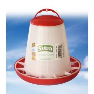 Supa Poultry Feeder Red & White 1kg