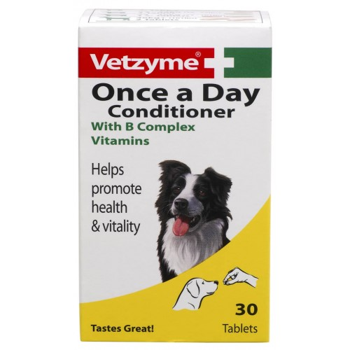 Vetzyme Dog Once A Day Conditioner 30 Tablets