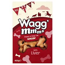 Wagg Mmms Dog Biscuits With Liver 400g x5
