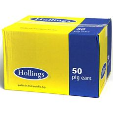 Hollings Pigs Ears Bulk (50)
