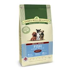 james wellbeloved Dog Small Breed Adult Ocean White Fish & Rice Kibble 1.5kg