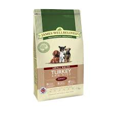 james wellbeloved Dog Small Breed Adult Turkey & Rice Kibble 1.5kg