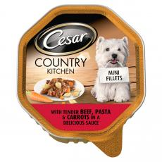 Cesar Country Kitchen Mini Fillets Tender Beef Pasta & Carrots In Sauce 150g
