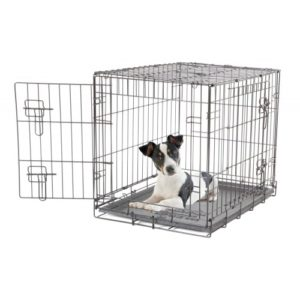 Dogit Wire Home 2 Door Black Medium 76x51x58cm (30x20x23″)