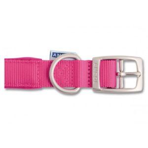 Heritage Nylon Padded Collar Raspberry 45cm/18″ Sz 4