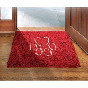 Dirty Dog Doormat Maroon 79x51cm