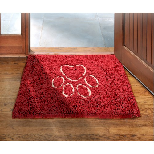 Dirty Dog Doormat Maroon 79x51cm