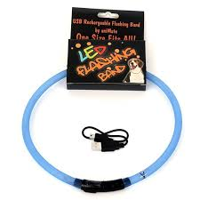 Walking Mate Flashing Led Band Blue 70cm Cut To Size