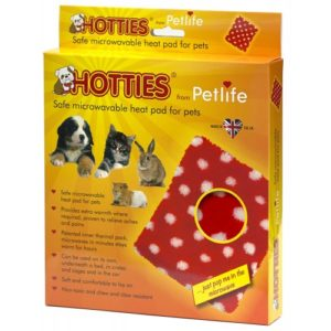 Hotties Microwavable Pet Warmer With Red & White Polka Dot Cover