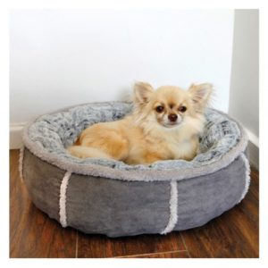 40 Winks Deep Plush Donut Bed Grey 50.5cm (20″)