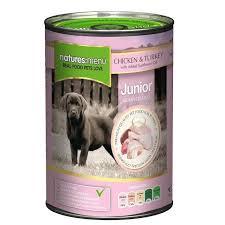 Natures Menu Junior Dog Can Chicken & Turkey With Herbs 400g x12