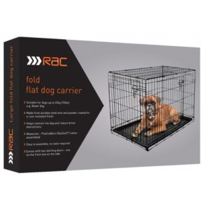 Rac Metal Fold Flat Crate With Plastic Tray Large 91x62x56cm