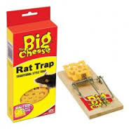 The Big Cheese Fresh Baited Rat Trap x6