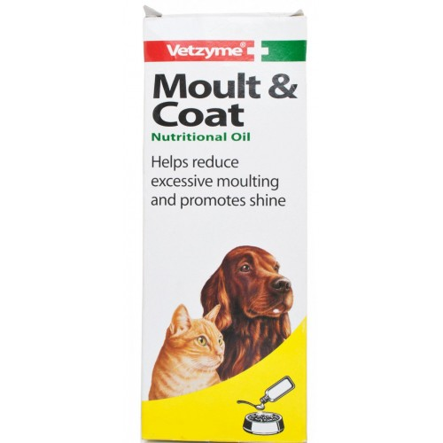 Vetzyme Dog & Cat Moult And Coat Nutritional Oil 150ml