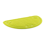 Dog Feeding Mat D-shape Paw Green 60x36cm
