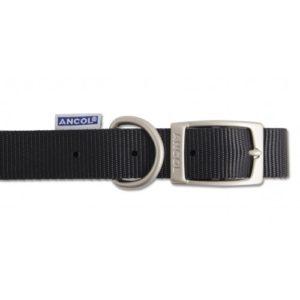 Heritage Nylon Collar Black 12mm X22-26cm