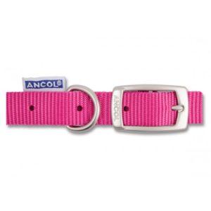 Heritage Nylon Collar Raspberry 15mm X36-46cm