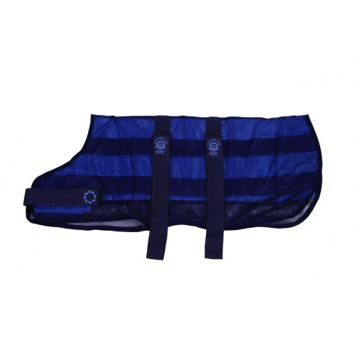 Cooling Dog Coat & Bag Navy Medium 16″