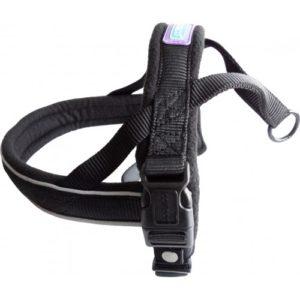 Dog & Co Nylon Norwegian Harness Reflective Padded Black 2xlarge