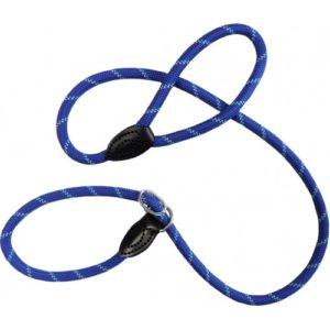 Dog & Co Mountain Rope Slip Lead Blue Reflective 150cm