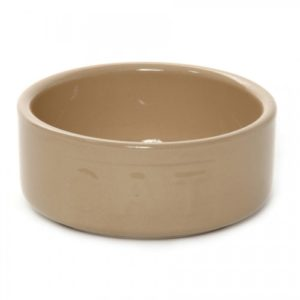 All Cane Lettered Cat Bowl 13cm (5″)