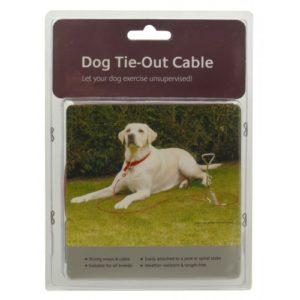 Dog Tie-out Cable 10′