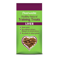 Feelwell's Healthy Natural Training Dog Treats Liver 115g X7