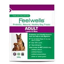 Feelwell's Probiotic Healthy Treats Super Premium Adult Lamb & Rice 200g X6