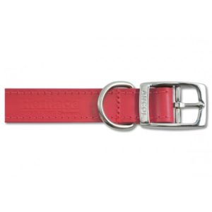 Heritage Leather Sewn/half Lined Collar Red