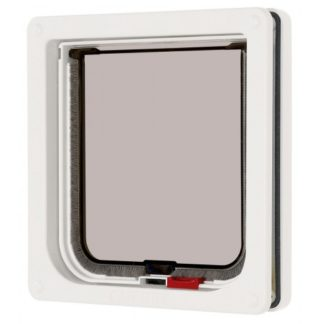 Lockable Cat Flap White 16.5×17.4cm