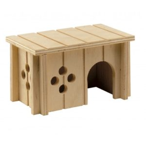 Sin 4642 Wooden House For Rodents 14.5×9.5×8.5cm
