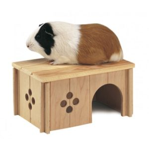 Sin 4645 Wooden Guinea Pig House 26×18.5×13.5cm